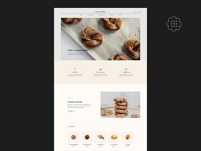 Honey & I Website Design hero website design ui ux e commerce landing