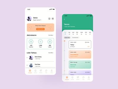 Online Learning App calender dashboard education online learning behance minimal ios learning ui case study ux app app design