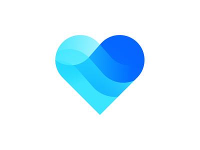 Love apps ux ui vector illustration icon branding design dribbble logo hearth love