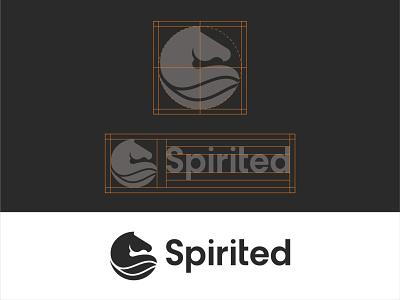 Logo for Spirited dribbble design branding illustraion logodesign logo black horse minimalist horse horse logo spirited logo