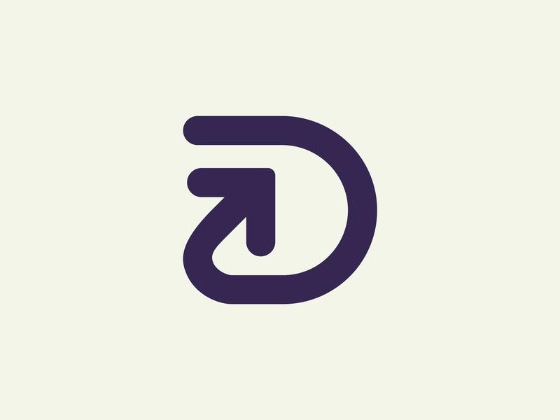 D + Arrow arrow d illustration icon branding design dribbble logo