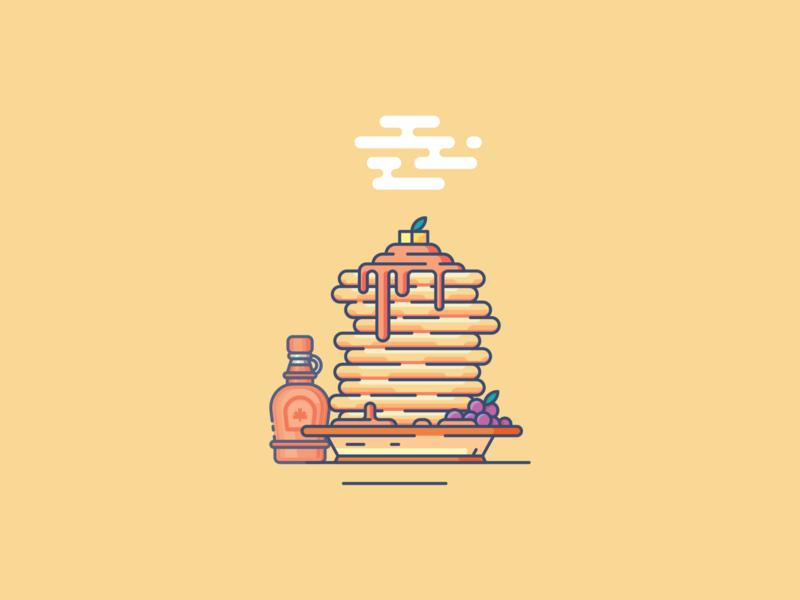 Pancake flat ilustrations