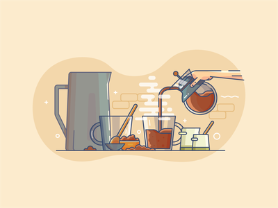 Coffe fresh minimal illustrator icon flat  design ui flat vector design illustration