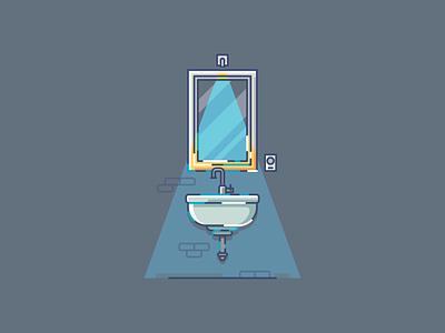 Mirror ux minimal illustrator icon flat  design ui flat vector design illustration