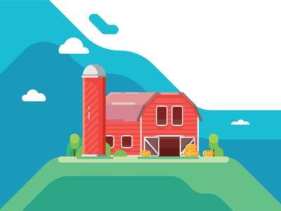 Farm minimal illustrator icon flat  design ui flat vector design illustration
