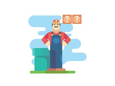 Super mario bross illustrator icon flat  design ui flat vector design illustration