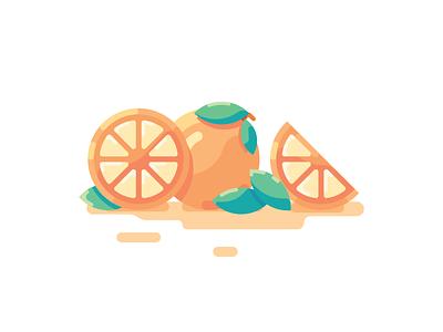 Orange minimal illustrator icon flat  design ui flat vector design illustration