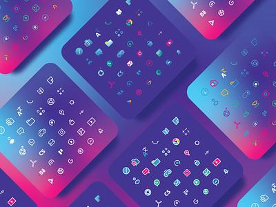 Social media icon pack by DIGY branding ux minimal illustrator icon flat  design ui flat vector design illustration