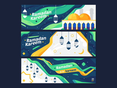 Ramadan kareem banner design ux minimal illustrator branding icon flat  design ui flat vector design illustration