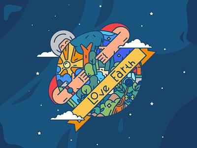 Happy earth day minimal illustrator icon flat  design ui flat vector design illustration