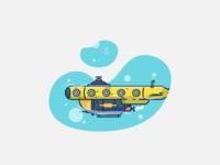 Submarine flat design