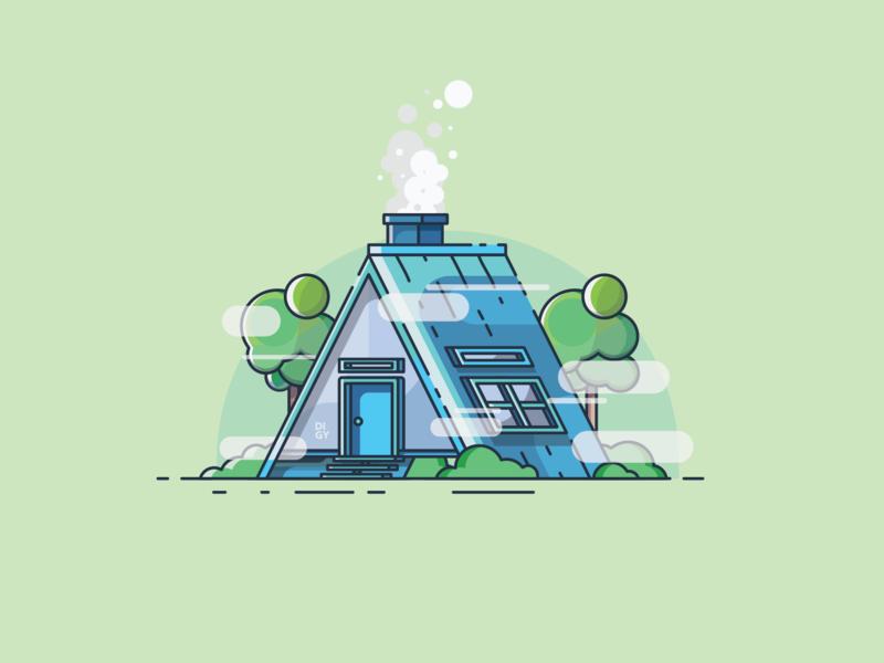 House minimal illustrator branding animation ux icon flat  design ui flat vector design illustration