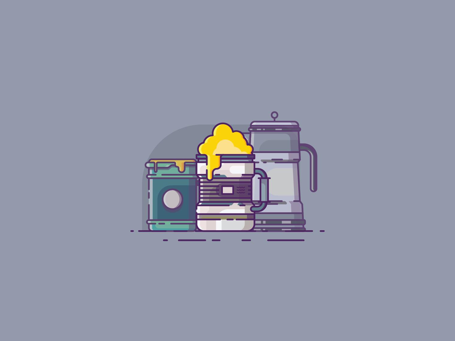 beer illustrator icon flat  design ui flat vector design illustration