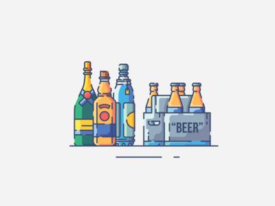 Drink flat design