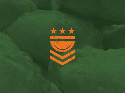 Empanada Brigada empanada badge foodtruck logo military brigade