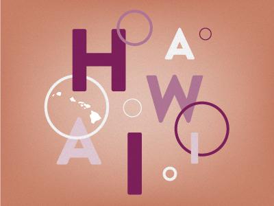 HAWAII aloha hawaii abstract
