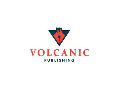 Volcanic Publishing V2 volcano publishing volcanic logo red