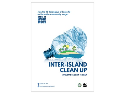 Inter-Island Clean Up philippines poster