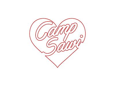 Camp Sawi illustration typography