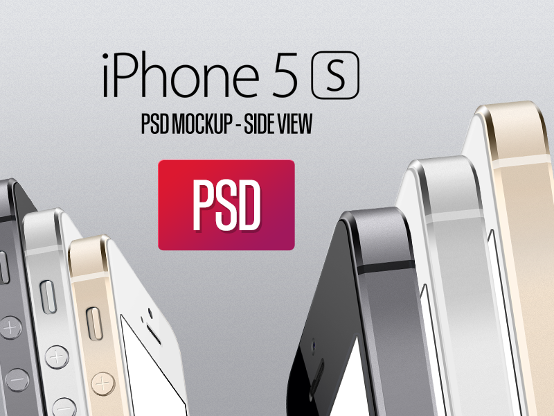 Iphone 5S Side View PSD iphone 5s iphone freebie psd side sideview ios7 mockup free