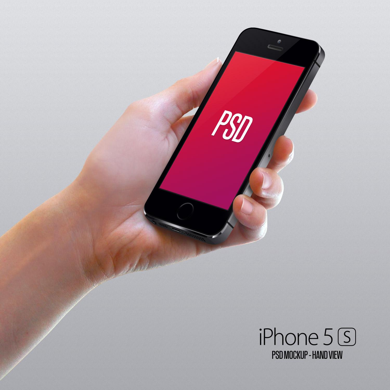 Iphone mockup hand