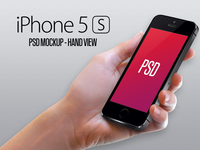 Iphone 5S Mockup - Hand PSD iphone mobile back free download 5s mockup apple psd template hand photoshop