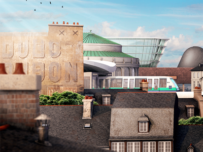 Welcome to Rennes! roofs c4d gweno brittany france bretagne illustration rennes 3d
