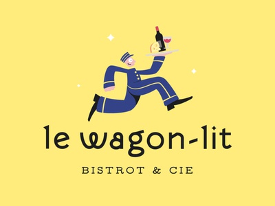 Le Wagon-lit // logotype illustration identity branding wagon logotype