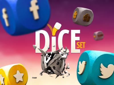 Dice Set Social Artwork