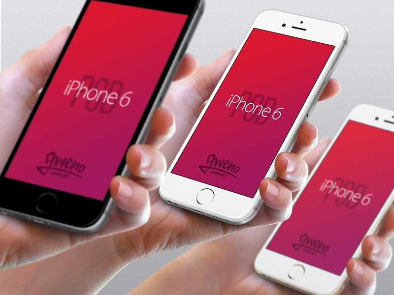 Iphone 6 Mockup - Hand PSD template photoshop mobile hand download 6 apple psd mockup free iphone