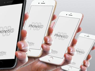 iPhone 6s Mockup - Hand PSD