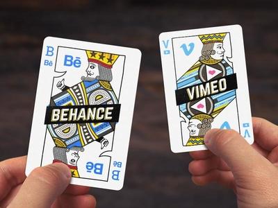 Behance & Vimeo Playing Cards
