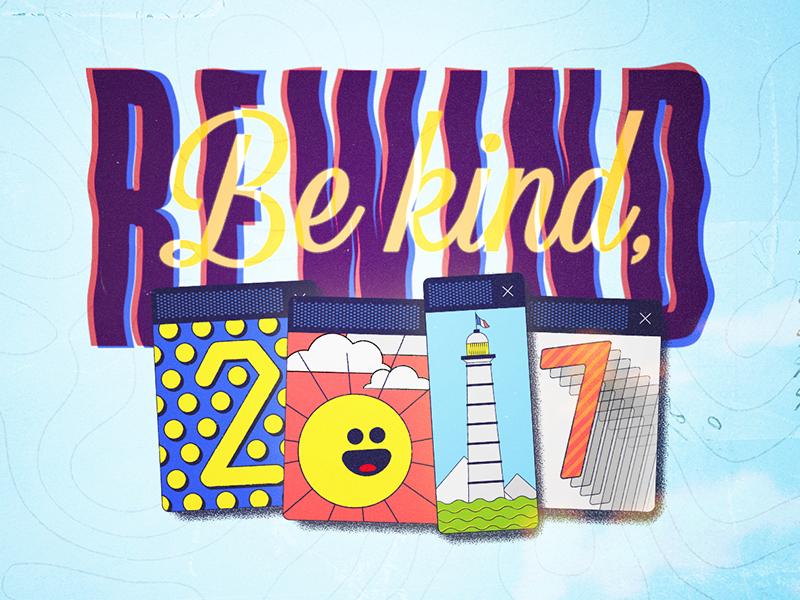 Be kind, Rewind 2017 medium blue 2014 rewind retro motion