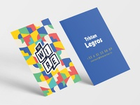 The WIRE - Business cards & Branding branding cards business cards blue colorful startup the wire france logotype