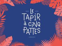 Le Tapir à cinq pattes - Logotype
