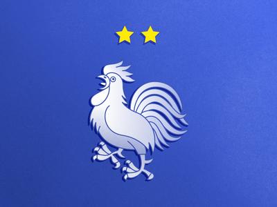 Football World Champion ! exp fifa champion stars coq cock blue football soccer world cup france