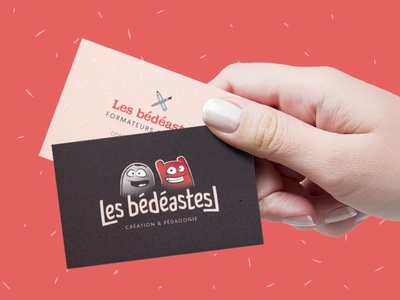 Les bédéastes // business cards bedeastes hand cards brittany comics logotype branding business cards
