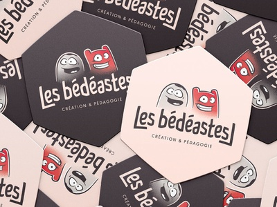 Les bédéastes // STICKERS typography france brittany illustration logo banding stickers