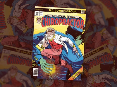 CHIROPRACTOR Comics Cover side brittany chiropractic cover artwork illustration cover comics