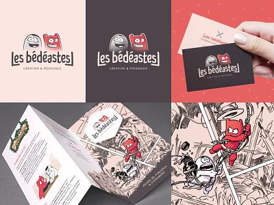 Les bédeastes // Branding board illustration cartoon logotype cards france bedeastes branding