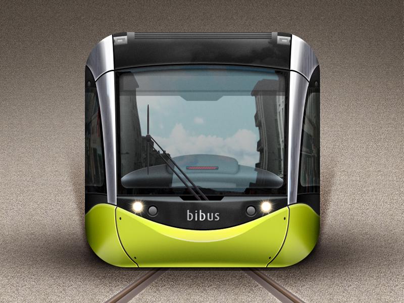 Tramway of Brest iOS Icon france brest tramway ios icon transport green brittany bretagne gwenole iphone ipad tram