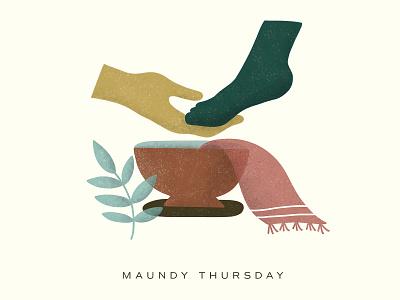 Maundy Thursday- Jesus Washing Feet jesus washing feet jesus maundy thursday illustration minimal easter sermon slide sermon graphic holy week easter church design