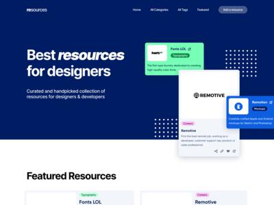 Resources page - First Concept desktop ui figma web design website design