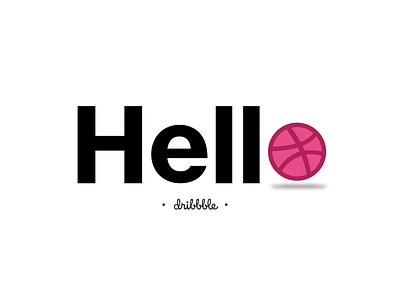 Hello Dribble hello dribbble shot debut invite hello dribbble design