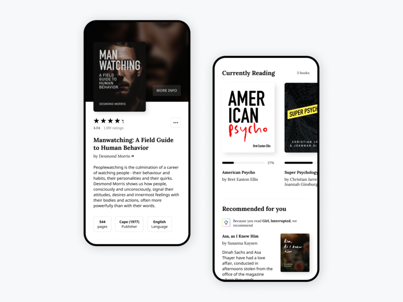 Goodreads App Re-skin [in progress] reading app bookstore white minimal clean stars rating mobile books app bookshelf uiux ui goodreads reading books