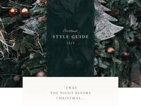 Dribble christmas style guide desktop