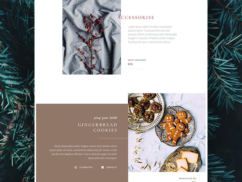 Christmas Lookbook / Styling Guide - Desktop branding style nature clean minimal festive christmas