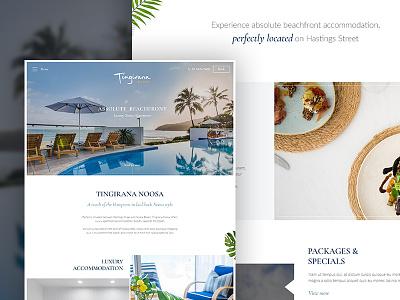 Luxury Resort Website Concept photography desktop website responsive resort ux clean white hotel luxury