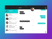 Dribbble chat ui 01