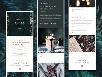Christmas Lookbook / Styling Guide - Mobile ui style responsive mobile minimal ios green festive clean christmas branding